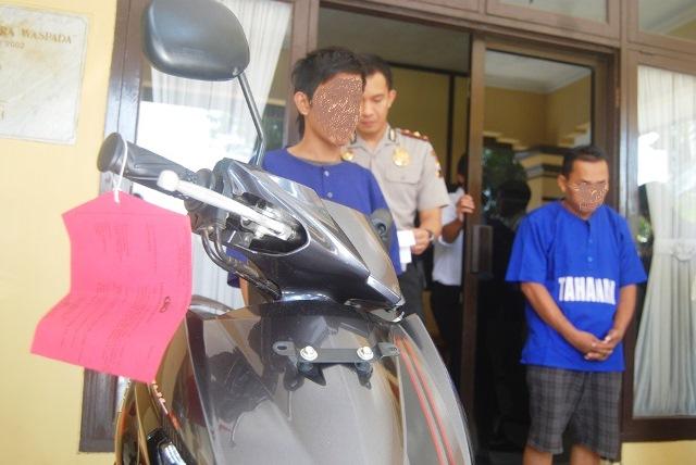 Pencuri Sepeda Motor Dibekuk Polisi