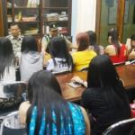 Puluhan PK yang terjaring di beri pengarahan di kantor Satpol PP Kabupaten Jepara