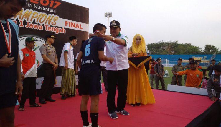 Final di Jepara, An Nur FC Blora Juarai Liga Santri Nusantara Region I Jawa Tengah