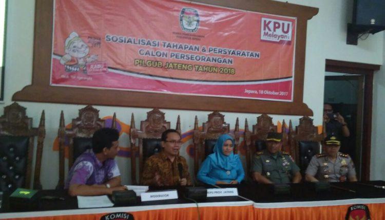 KPU Jateng Sosialisasi Tahapan Dan Persyaratan Calon Perseorangan Pilgub