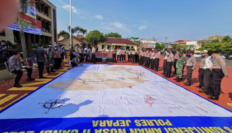 Polres Jepara Gelar Apel Kontijensi Aman Nusa II, Penanggulangan Pencegahan Virus Covid-19 di Jepara