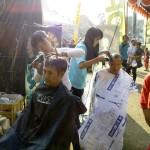 """Pangkas Rambut Massal """"yang digelar di pelataran Museum RA Kartini pada Minggu pagi (31/8) ."""