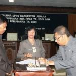 DPRD Kabupaten Jepara mengesahkan KUA PPAS 2015 dan APBD Perubahan 2014 kemarin