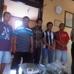 Lima Tersangka Kasus Narkoba diamankan di Polres Jepara kemarin