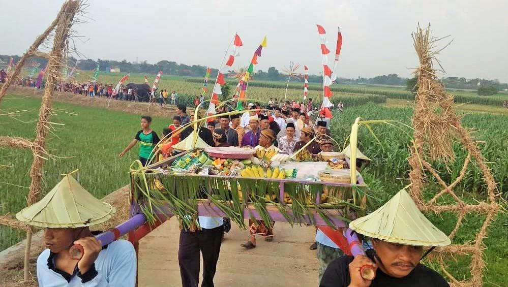 Diantara prosesi Kirab Seribu Ingkung di Desa Kendengsidialit