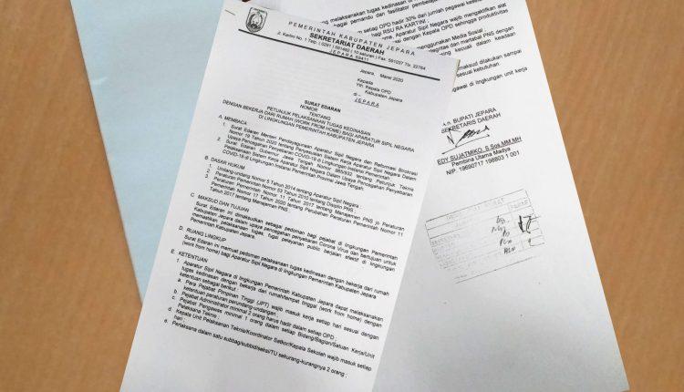 Cegah Corona Pemkab Jepara Berlakukan Work From Home Untuk Para Pegawai